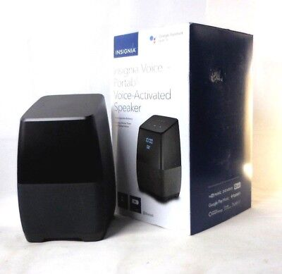 Insignia Voice Smart Portable Bluetooth Speaker W  Google Assistant Ns Cspgasp2