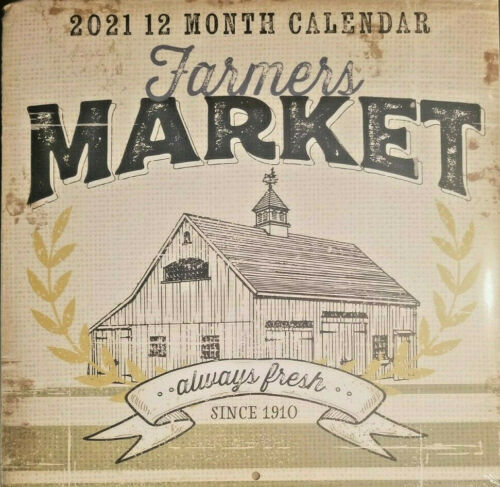 "Farmers Market 2021 Wall Calendar 11""X11"""