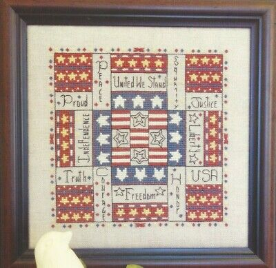 INDEPENDENCE SQUARE--Rosewood Manor--Patriotic-USA--Counted Cross Stitch Pattern