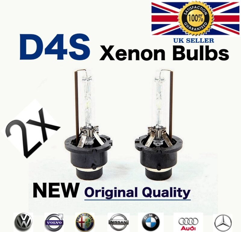 2X D4S Xenon Bulbs OEM Factory Replacement Headlight Lamps HID 35W 4300K 6000K