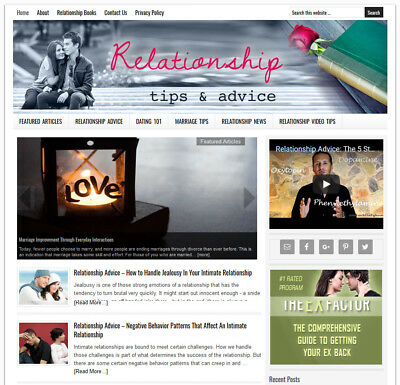 Relationship Tips   Blog Website Business For Sale W  Daily Automatic Content
