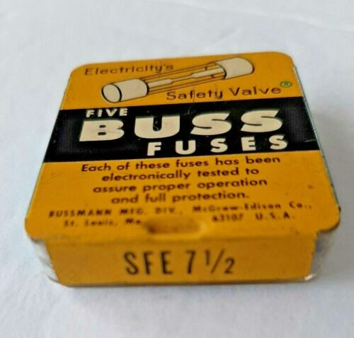5 BUSS SFE 7-1/2 Fuses NEW