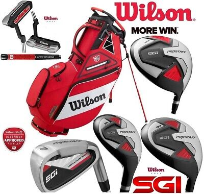 Wilson Prostaff SGI All Graphite Complete Golf Club Set & Exo Stand Bag New 2019