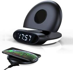 Wireless Phone Charger Alarm Clock Function Foldable Stand-Digital Alarm Clock
