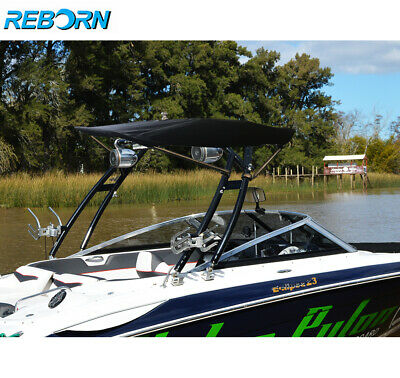 Reborn Launch Wakeboard Tower Black Coated Plus Pro3 Tower Bimini Package for sale  Azusa