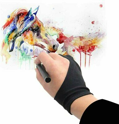 Two Finger Anti-fouling Glove Drawing & Pen Graphic Tablet Pad For Artist Black Computers/Tablets & Networking