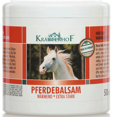 Kräuterhof Pferdebalsam 500ml wärmend extra stark Massage-Gel Körperpflege Salbe