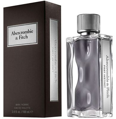 Abercrombie   Fitch First Instinct For Men Cologne 3 4   3 3 Oz Edt New In Box