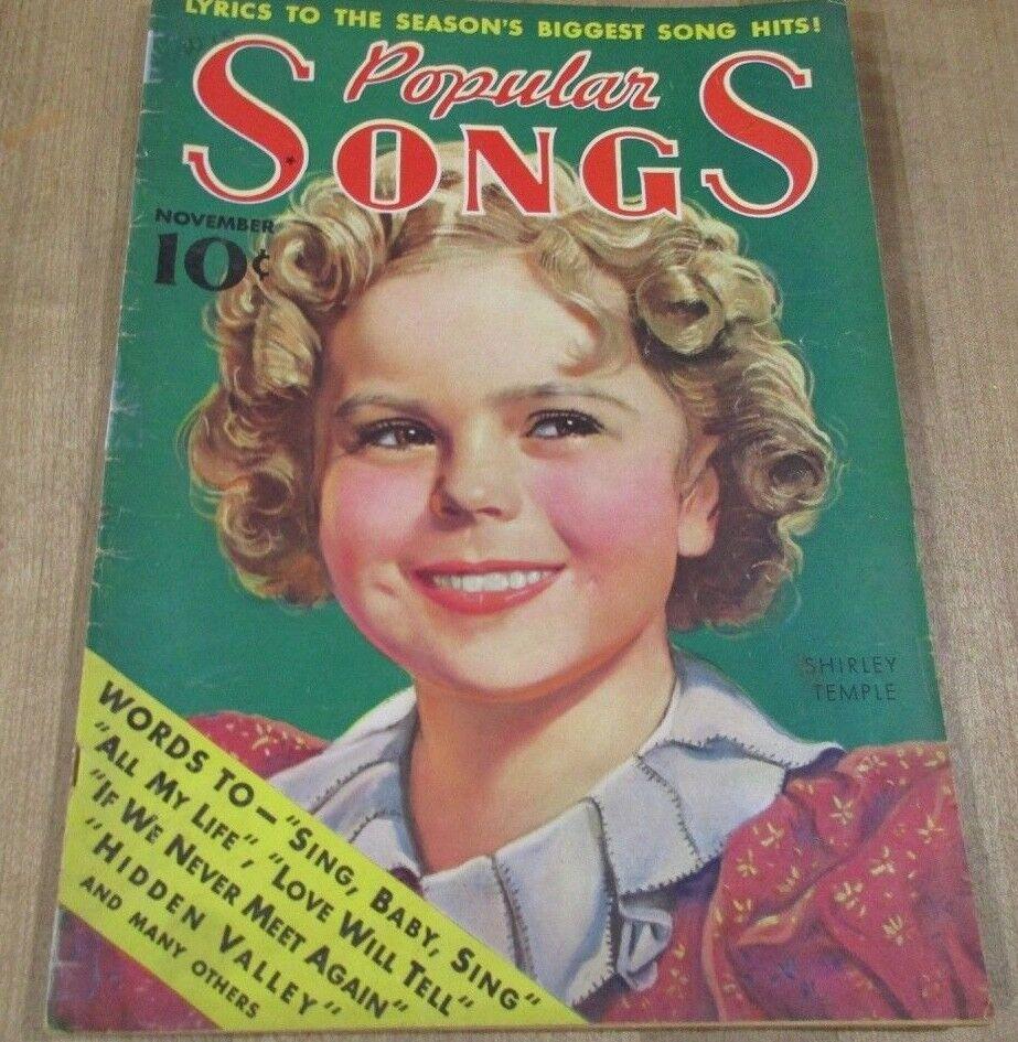 Popular Songs November 1936 Shirley Temple George Cohen Eddie Wittstein Arthur  - $7.99