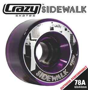 ROLLER SKATES ROLLERSKATES SPEED DERBY QUAD WHEELS CRAZY SIDEWALK (Purple)