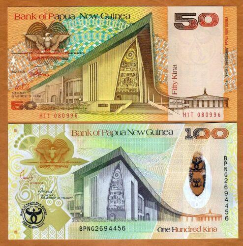 SET Papua New Guinea, 50;100 Kina, ND (1989-2008), P-11-37, UNC