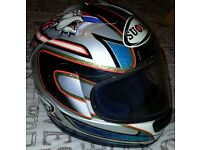 SUOMY SIZE 53/54 SMALL MOTORBIKE HELMET COST £200 & COMES WITH HELMET BAG & AN ANTI MIST VISOR