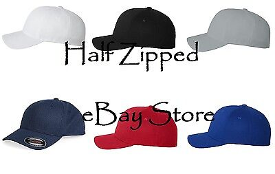 Flexfit Fitted Cool & Dry Pique Mesh Cap 6577CD Baseball Hat Pique Mesh Fitted Cap