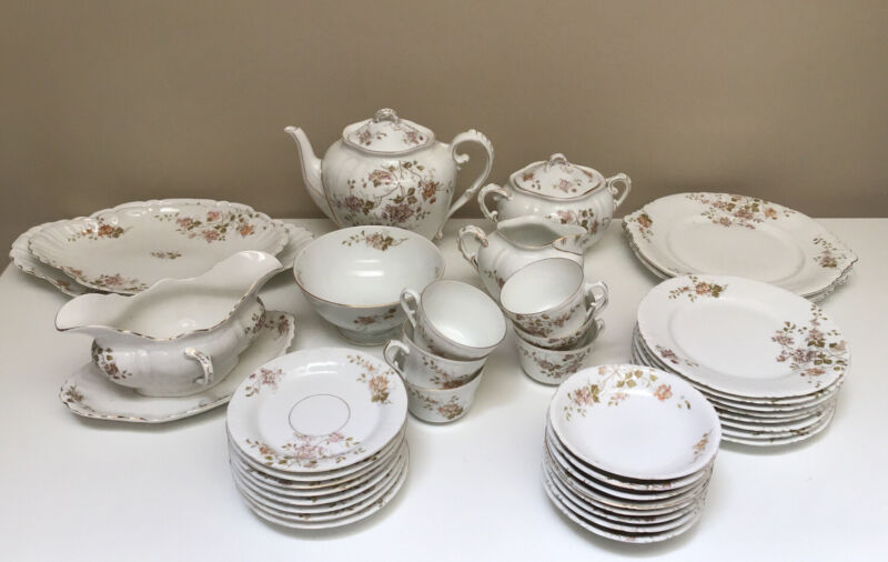 Lg Lot Vintage LS&S Lewis Strauss Carlsbad Austria 2761 China Plate Cup Saucer