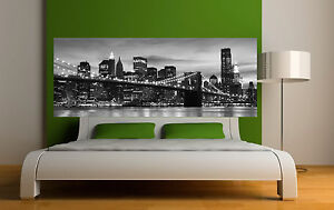 Sticker t te de lit d coration murale new york r f 3650 5 dimensions - Decoration tete de lit ...