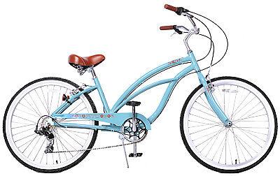 Fito Marina Alloy 7-speed - Sky blue, Aluminum Light Weight Beach Cruiser Bike