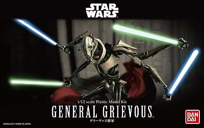 Bandai Hobby Star Wars General Grievous 1/12 Scale Model Kit Action Figure ()