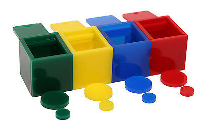 Birdie Colored Boxes Trick Training Prop - 4 Colors for Small to Medium Parrots