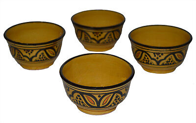Dipping Soy Sauce Cup Moroccan Ceramic Salsa Chip Bowl Soup Butter Dish 4 pieces