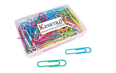 Gem Clips Paper Clips Multicolored For Office Home School Large 50 Mm 100