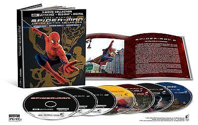 New Spiderman 1,2,3 Ltd Edition Booklet Giftset (4K/Blu-ray)