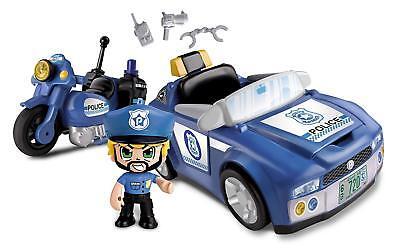 Pinypon - Vehículo De Policía incluye su moto y pin y pon de policía mix is max