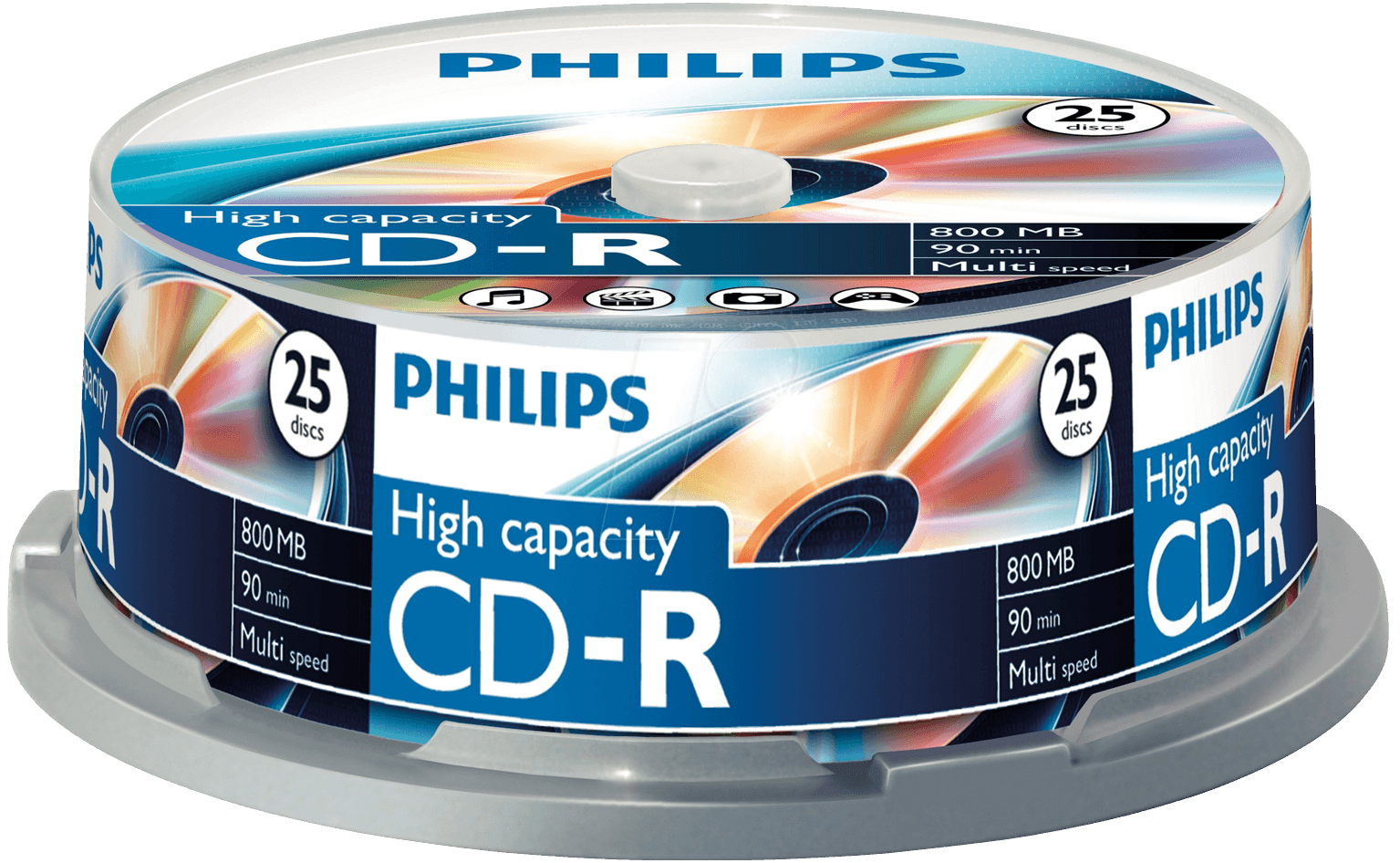 Philips CD-R Rohlinge 25er Spindel Cakebox 800MB/90min CR8D8NB25