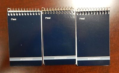 3 Mead Cambridge Writing Pad 3 X 5 Small Memo Book Wirebound Notebook 70sheet