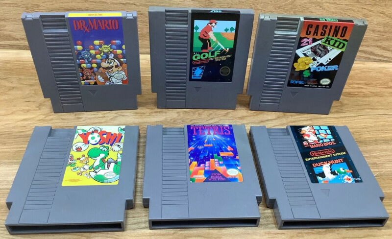 Lot Of 6 - Nintendo NES Video Games Loose Cartridges Tested And Work