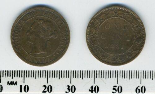 Canada 1881 H - 1 Cent Bronze Coin - Queen Victoria