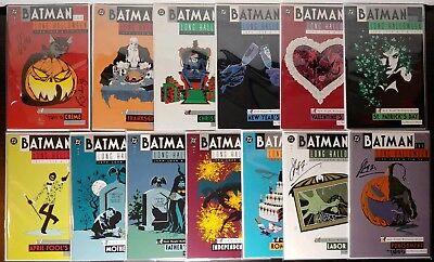 Batman The Long Halloween Complete Set #1-13! Signed by Jeph Loeb & Tim - Batman Long Halloween 13