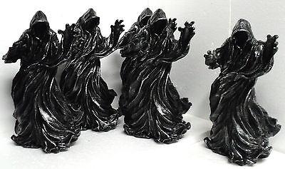 "Grim Reaper Statue Death Ghost Evil Halloween Dementor Gothic Decor 11"" Resin"