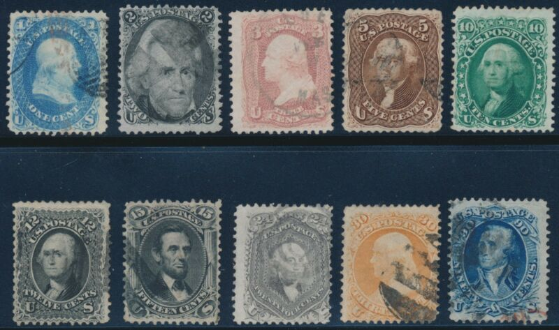 #63 // #68 F-vf // Vf Used (some Small Faults) Cv $1,908 Bt92