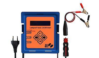 Fritec Ladeprofi Vario 2.0 12V Ladegerät für AGM- Gel- und Lithium Batterien NEU