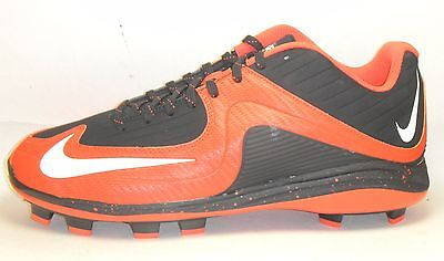 New Nike Air MVP Pro 2 MCS Baseball Cleats Size 10.5 Black Orange White Molded