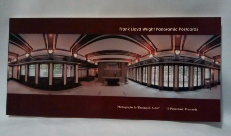 FRANK LLOYD WRIGHT Postcards 16 Large Panoramic Book 2007 ARCHITECTURE HOUSES