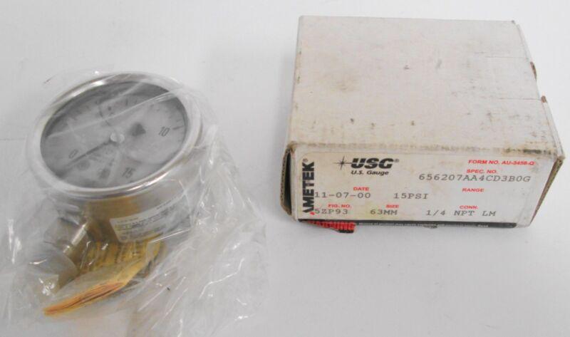 Ametek U.S. 5ZP93 Pressure Gauge