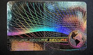 Id holograms supplies ebay hologram secure overlays overlay inkjet teslin id cards lot of 5 pronofoot35fo Gallery