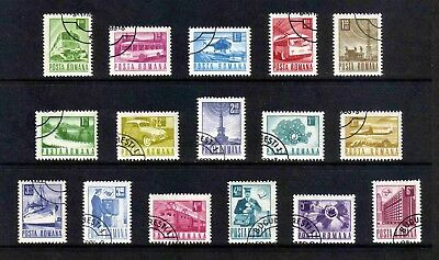 Romania 1971 Transport & Communications complete set of 16v (SG 3842-3857) used