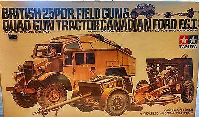 (BRITISH 25 PDR. FIELD GUN & QUAD GUN TRACTOR (CANADIAN FORD F.G.T. MODEL KIT)