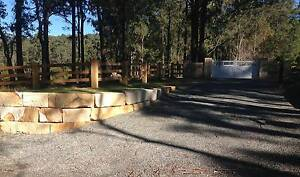 Excavator hire, sandstone retaining walls, landscaping Marks Point Lake Macquarie Area Preview