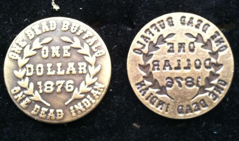 Vintage Trade Dollar One Dead Buffalo One Dollar 1876 Token - Trade Dollar