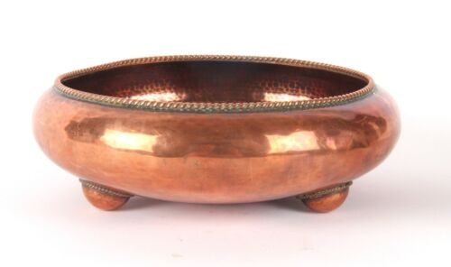 Arts and Crafts Gordon Russell Lygon Copper Bowl Cotswold School Signed