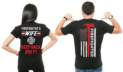 Firefighter Couple T Shirts  Husband And Wife Cool Matching T-shirts Gift ideas](Firefighter Ideas)