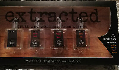 NIB - Women's Extracted Perfume Set by Preferred Fragrance, (4) .5 fl oz bottles - Gift Set Perfume Extract