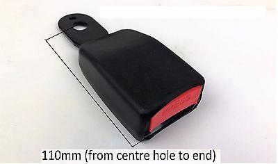 Short Fixed buckle for Seat Belt E9 Rated. UK supplier, VAT Inc ECER16