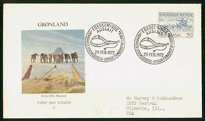 Mayfairstamps Greenland FDC 1972 Sled Dogs First Day Cover wwo_67241