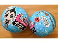 Two 2 LOL SURPRISE BOYS SERIES 1 DOLL FIGURE MYSTERY SEALED BLIND BALL L.O.L NEW