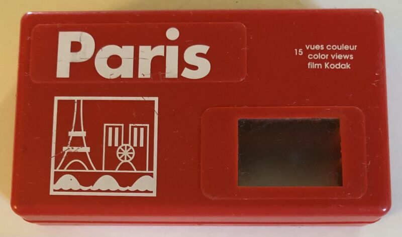 Vintage Red Paris Kodak 15 Vues Couleur Color Views Film Handheld Viewer Tested