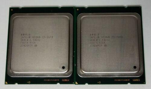 Lot of (2) Intel Xeon E5-2690 2.90GHz 8-Core CPU Processor 20MB LGA2011 SR0L0